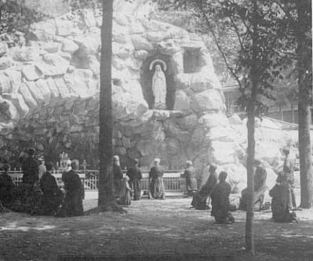 One of the very first images of the Grotto, taken around the turn of the century.