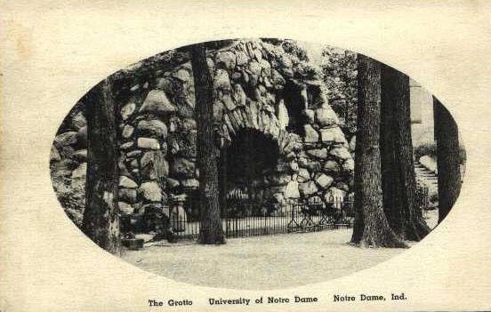 "Early ""Albertype"" postcard of the Grotto."