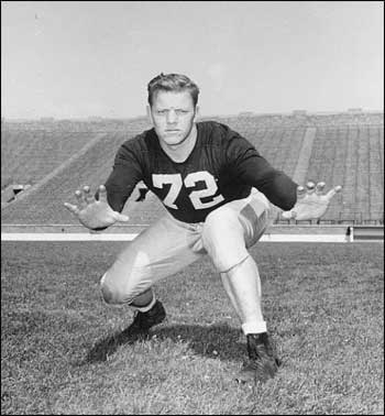 Bill Fischer, all time great. All American in '47, '48, Outland Trophy winner in 1948.