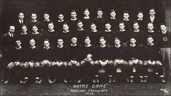 Notre Dame's first concensus National Championship team and Rose Bowl Champion.