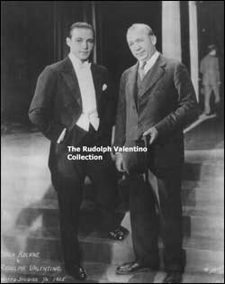 Rock with silent film star Rudolph Valentino.