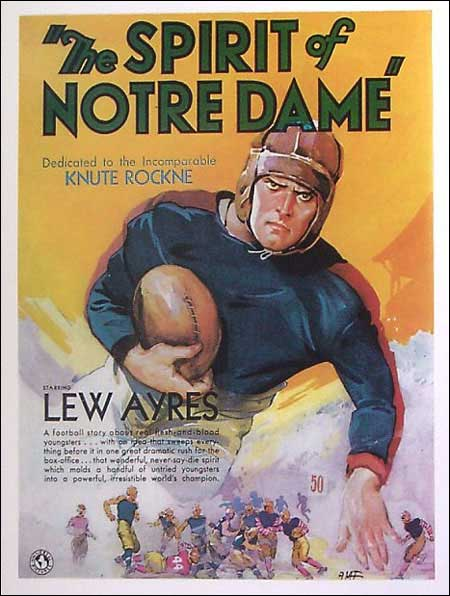 Dramatic movie poster from The Spirit of Notre Dame (1931)