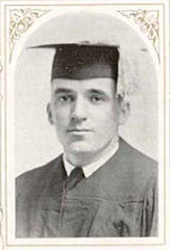 After suffering severe wounds in France during WWI, Dave made an extraordinary effort to not only play football with his team in 1919 but to graduate with his class in 1920.