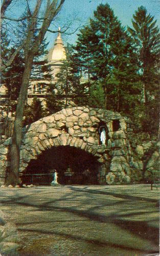 Contemporary view of the Grotto.