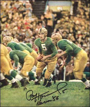 Paul Hornung leads the charge in a photo from the November '56 issue of Sport Magazine.