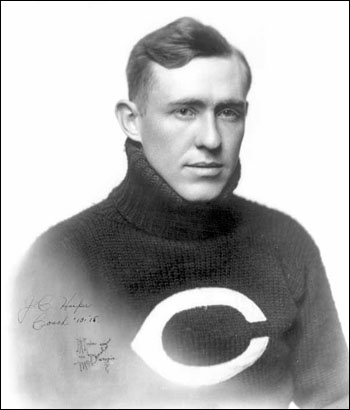 A young Jess Harper in his University of Chicago letter sweater. He was a star halfback for Stagg's excellent teams in the early part of the century.