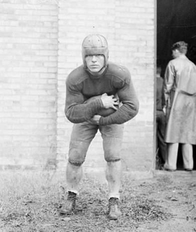 A young Joe Savoldi. Probably from his sophomore year, 1928. (Courtesy of the University of Notre Dame Archives)