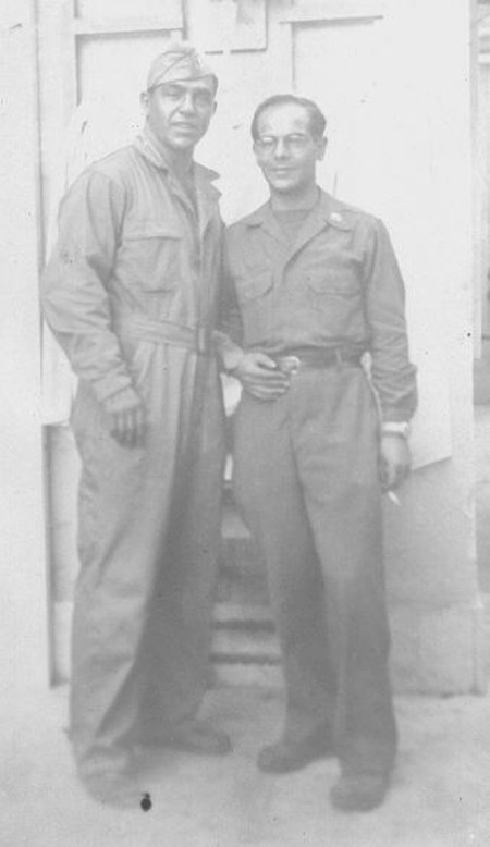 Joe in his jump suit in wartime Italy.